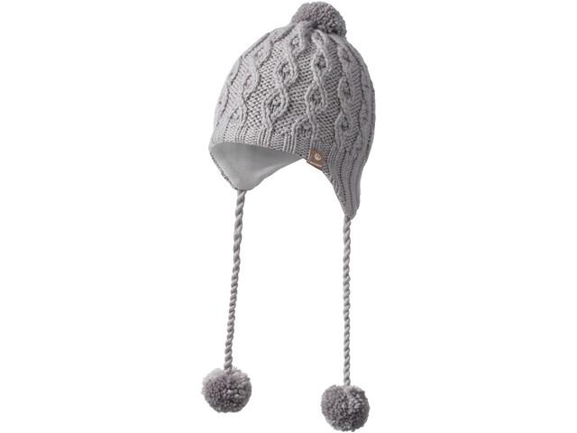 Giesswein Zuckerhut Bonnet en maille tricotée Fille, zinn